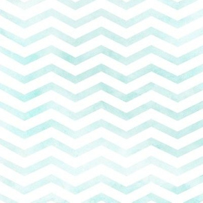 Blue Watercolor Chevron