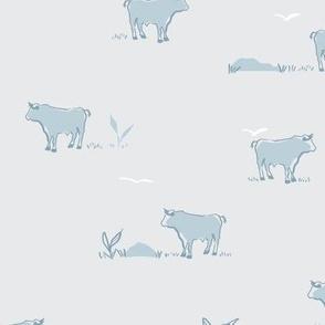 Buffalo in blue