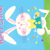 Easter Bunny Tea Towel