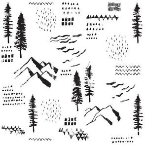 Mountain Adventures // Black and White