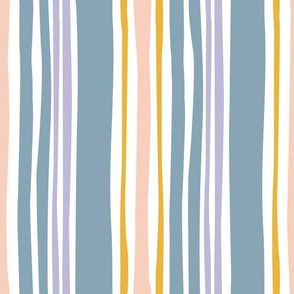 Wavy stripe in multicolor