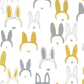 Bunny ears in mustard yellow