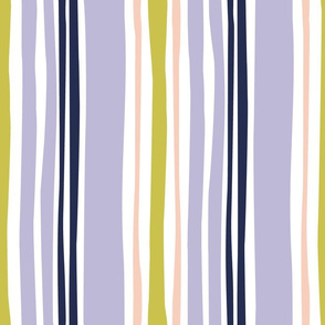 wavy stripe in purple and peach