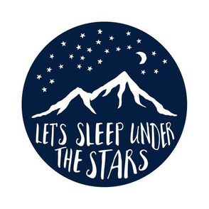 "9"" Quilt Block - Let's Sleep Under the Stars (navy)"