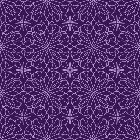 Geometric Lace - Ultra Violet fabric by cecca on Spoonflower - custom fabric