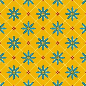 spanish flower tile