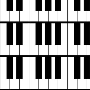 Three Inch Horizontal Piano Keys