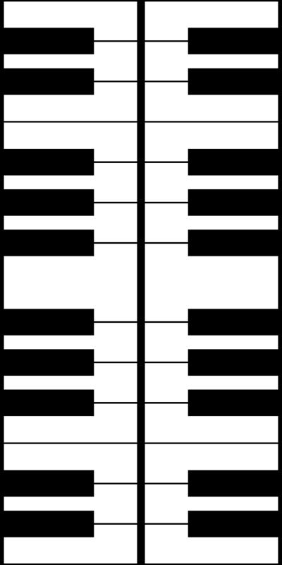 Three Inch Vertical Piano Keys wallpaper - mtothefifthpower
