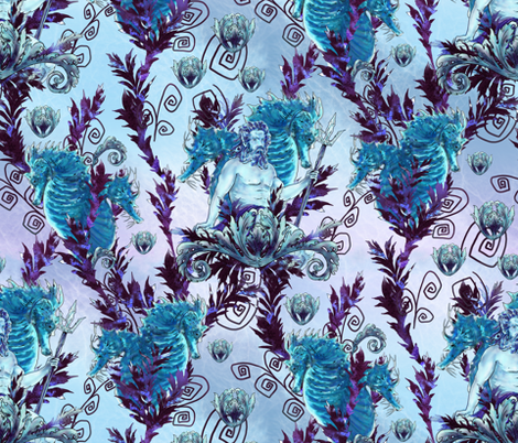 Poseidon Rules fabric by ravens_spirit_song on Spoonflower - custom fabric