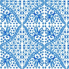 Spanish Tile N3 Cobalt