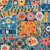Gaudi Style Mosaic Tiles