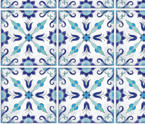 Spanish Tile fabric by juniperr on Spoonflower - custom fabric