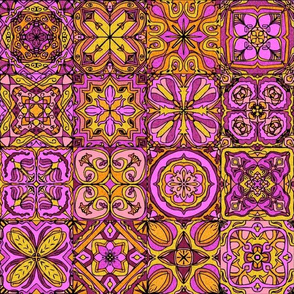 Hot Pink Spanish Tiles