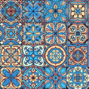Bright Blue Spanish Tiles