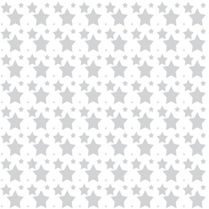 Stars for January Gray on white background