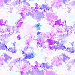 Ultra Violet Water Color Floral