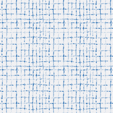 Doodle grid // inky blue fabric by ruth_robson on Spoonflower - custom fabric