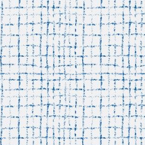 Doodle grid // inky blue