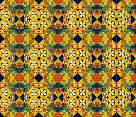 Spanish Tiles fabric by bruxamagica on Spoonflower - custom fabric