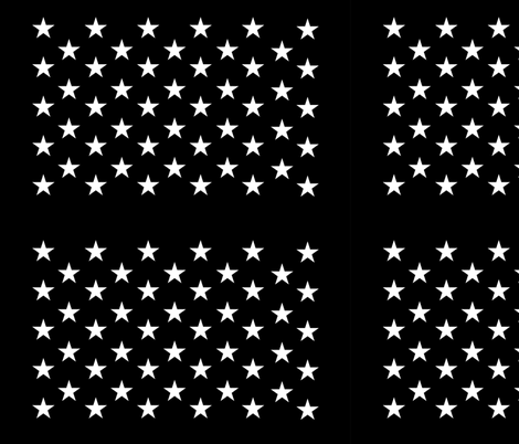 Black star field - half size fabric by renee2181 on Spoonflower - custom fabric