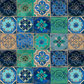 Dreams of the Azure Sea - Tile Pattern