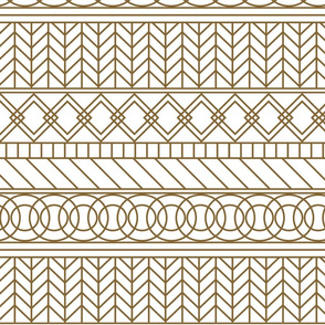Geometric gold and white lines