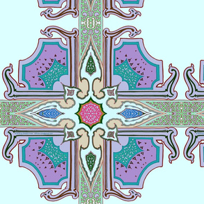 Spanish Tile Arabesque Minty Copyright 2017  by Edward Huse