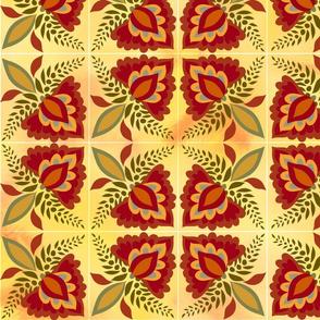 Golden Floral tiles