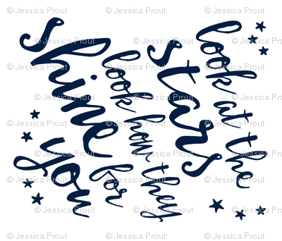 (navy) Look at the stars // Blanket