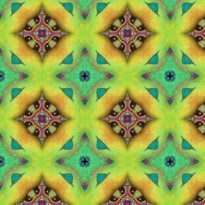 GIRAFFE JUNGLE DIAMOND LIME GREEN AQUA JEWELS LOZENGE CHECKERBOARD