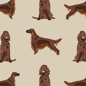 irish setter simple dog breed fabric tan