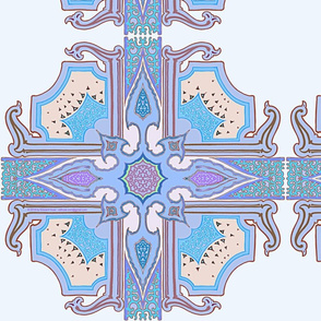 Arabesque Creamy Blue  Spanish Tiles Copyright 2018 by Edward Huse