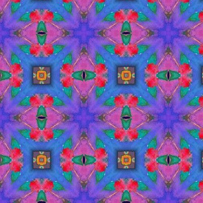 GIRAFFE BLUE LEAVES JUNGLE KALEIDOSCOPE