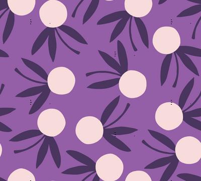 Citrus Floral // Violet