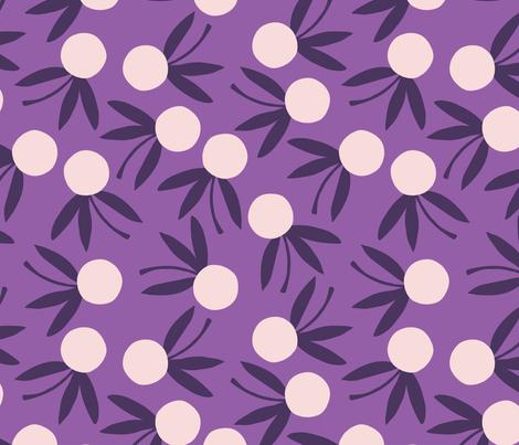 Citrus Floral // Violet fabric by beshkakueser on Spoonflower - custom fabric