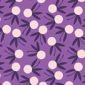 Dot Floral // Violet