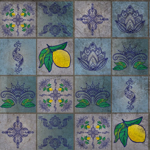 Weathered Citrus - Spanish Tiles