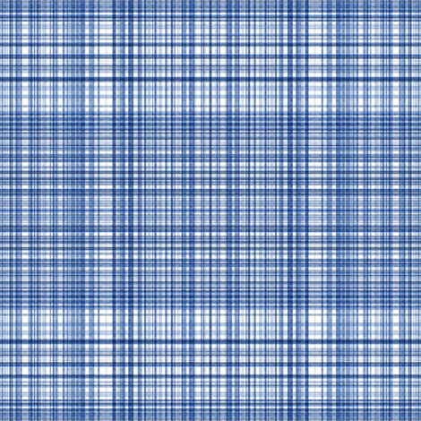 Plaid 2 in Blues and White fabric by anniedeb on Spoonflower - custom fabric