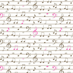 Music notes pattern