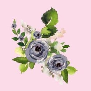 """6"""" Indigo Roses /  Pink"""