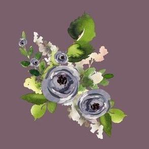 "6"" Indigo Roses / Dark Lilac"