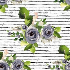 "6"" Indigo Roses with Stripes"