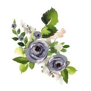 """6"""" Indigo Roses"""