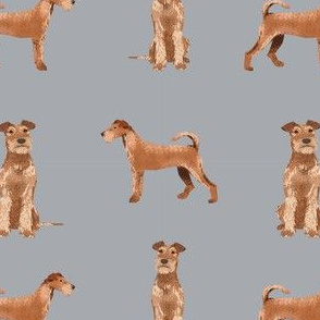 irish terrier simple valentines day dog fabric grey