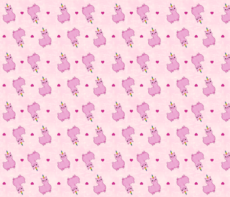 Uni-Llama in Light Pink fabric by costumewrangler on Spoonflower - custom fabric