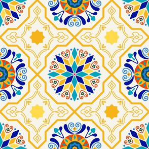 Cheery Modern Moorish Tiles // Bright + Sunny Spanish-inspired Tile Design