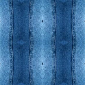 Denim Blue Vertical Waves Debra Cortese Designs