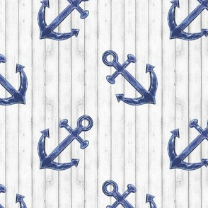 Rustic Navy Blue Anchors