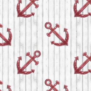Rustic Red Anchors