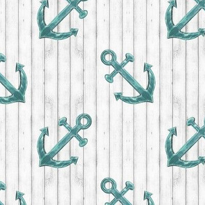 Rustic Teal Anchors